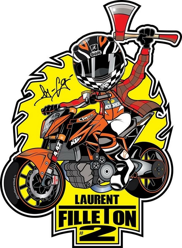 mascotte laurent filleton pilote officiel ktm team france ctm83