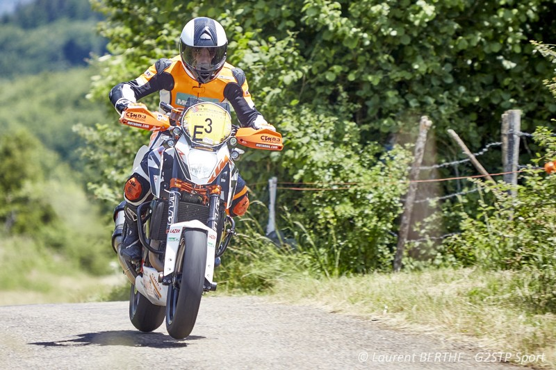 Florent derrien sur KTM 690 Duke R CTM 83 sur le Dark Dog rallye Moto Tour 2015