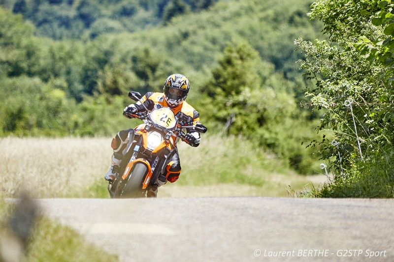 Laurent Filleton sur KTM 1290 Super Duke R CTM 83 sur le Dark Dog Rallye Moto Tour 2015