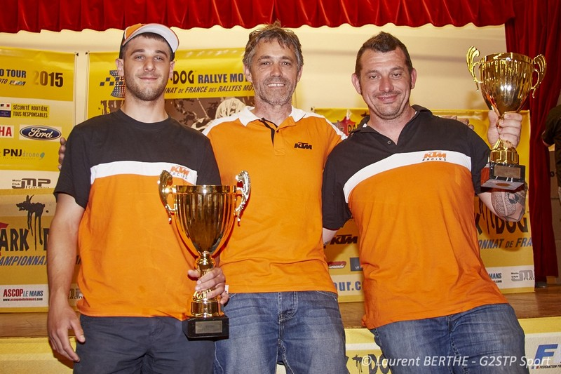 KTM TEAM FRANCE 1ER CHAMPIONNAT CONSTRUCTEUR DARK DOG RALLYE MOTO TOUR 2015