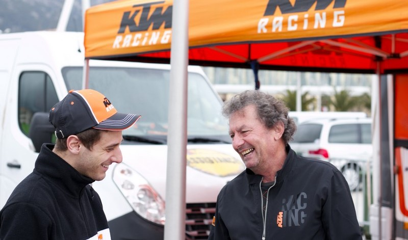 michel charrier assistance ktm team france - ctm 83 sur le rallye de toulon avec florent derrien
